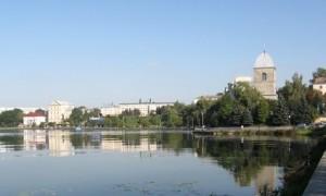 Вид на Тернополь с дамбы